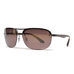 2ada0a47e6 Ray-Ban Men s 63mm Faux Tortoiseshell Polarized Aviator Frame Sunglasses w   Case