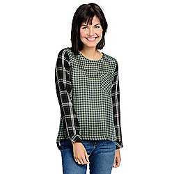83528c63c6cf1e Image of product 739-389. QUICKVIEW. More Choices Available. OSO Casuals®  Woven Mixed Plaid Long Sleeve ...
