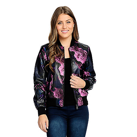 a143a9165 Kate & Mallory®, Faux Leather, 2-Pocket Zip Front, Choice of Moto or,  Bomber Jacket on sale at evine.com