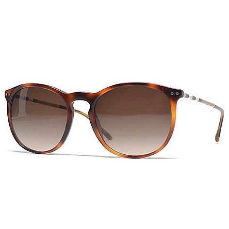 2c55630da1e 739-622- Burberry 54mm Havana Round Frame Sunglasses w  Case