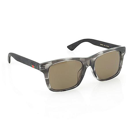 f7e234e61 739-671- Gucci Men's 54mm Rectangle Frame Sunglasses w/ Case