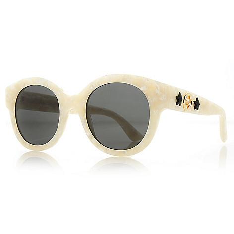 e8b5609c63 739-677- Gucci 51mm Round Frame Sunglasses w  Case