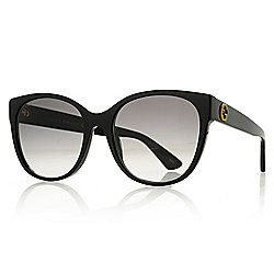 71de4288e77 Image of product 739-678. QUICKVIEW. Gucci 56mm Black Round Frame  Sunglasses w  Case