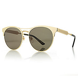 44d9a6c615e4 Image of product 739-679. QUICKVIEW. Gucci Round Frame Aviator-Style  Sunglasses w/ Case