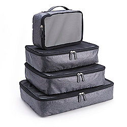 ROYCE New York Leather Set of 4 Travel Packing Cubes