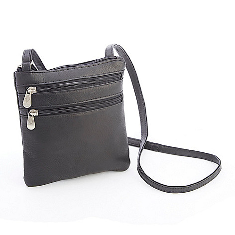 739-741- ROYCE New York Colombian Leather Double Front Pocket Crossbody Bag 41c10a58228c6