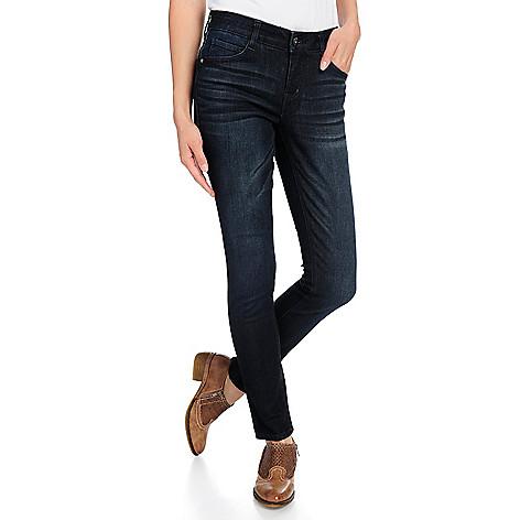 a8d6dc52a559 One World Denim 5-Pocket Elastic Waist Flexi-Fit Skinny Jeans - EVINE