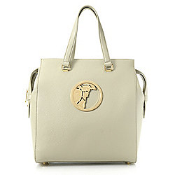 Versace Collection Pebbled Leather Medusa Medallion Top Handle Bag - 739-960