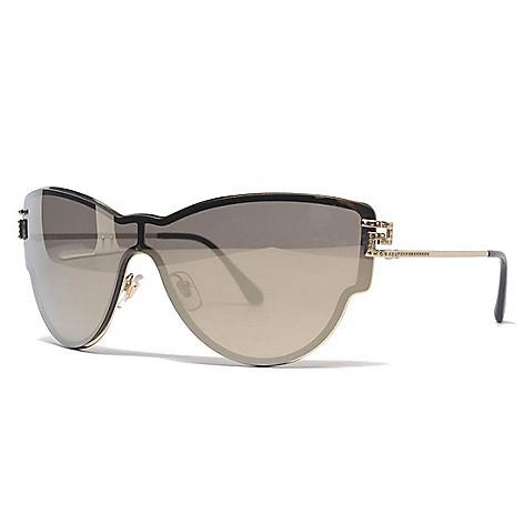 81d97888867b3 740-141- Versace 42mm Gold-tone Cat Eye Frame Sunglasses w  Case