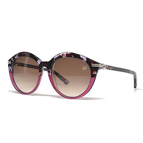 a36cb69637 Swarovski 55mm Fuchsia Round Frame Sunglasses w  Case - EVINE