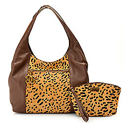 Haircalf - 740-244 Sharif Bastet in Love Leather & Haircalf Convertible Hobo  Tote Bag w Pouch - 740-244