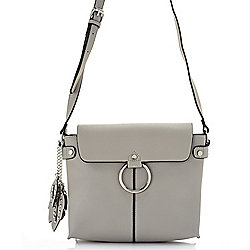 Crossbodys - 740-250 Madi Studio by Madi Claire Trevor Flap-over Crossbody Bag w Flower Keychain - 740-250