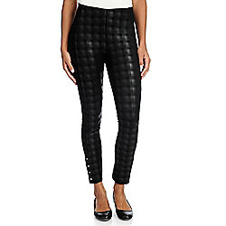 Nygård Slims Luxe Ponte Knit Elastic Waist Ankle Snap Pull-on Pants