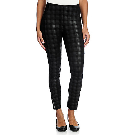 a4051135b67b Nygård Slims Luxe Ponte Knit Elastic Waist Ankle Snap Pull-on Pants ...