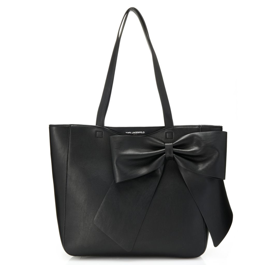 Karl Lagerfeld Paris Canelle Faux Leather Bow Detailed Tote Bag