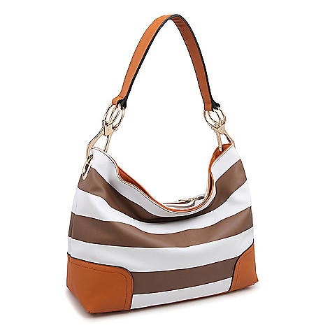 f62becf225 740-416- Dasein Classic Faux Leather Corner Patched Hobo Handbag