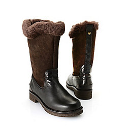 "Pajar ""Karen"" Leather Lambskin Lined Side Zip Mid-Calf Boots"