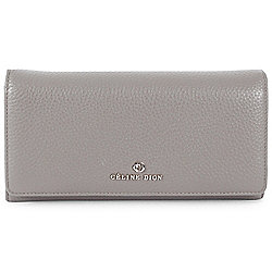 Shop by Category - Clutches & Wallets - 740-700 Celine Dion Collection Adagio Pebbled Leather Zip Around Wallet - 740-681