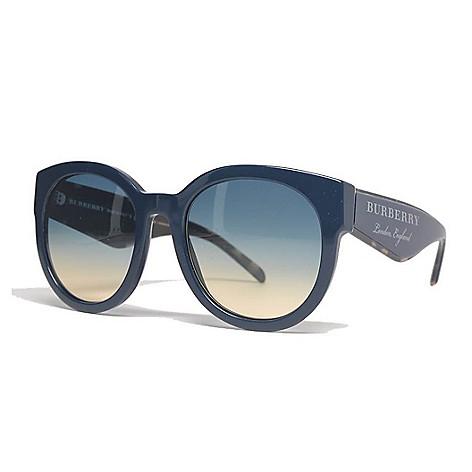 e8bca1fd8 740-830- Burberry 54mm Blue Round Frame Sunglasses w/ Case