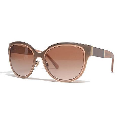 2cdd8c80a32f4 740-831- Burberry 57mm Light Brown Round Frame Sunglasses w  Case