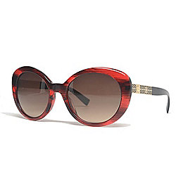 7578b0e0be5 Versace 59mm Striped Red Oval Frame Sunglasses w  Case