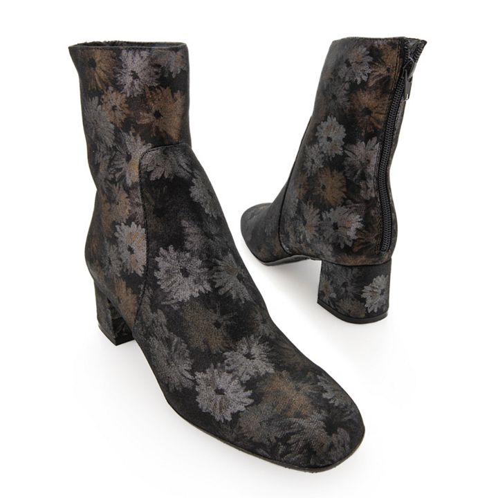 Footwear - UP TO 80% OFF - 740-873 Ron White Odelia Weatherproof Cashmere Suede Leather Asymmetric Heel Ankle Boots