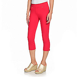 4bccab45b3ea2 Image of product 740-936. QUICKVIEW. Nygård Slims Luxe Denim Side Slit  Pull-on Capri Jeans. WHITE