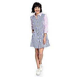 44f04ffcef7 mōd x Woven 3 4 Sleeve Tiered Back Button-up Dress