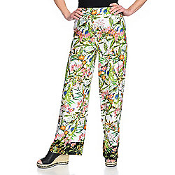 b0c7bd215d66a Image of product 741-088. QUICKVIEW. Kate & Mallory® Solid or Printed Knit  Elastic Waist Wide Leg Pull-on Pants