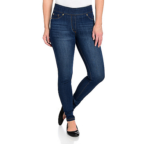 505720a220 Nygård Slims, Stretch Denim, 2-Pocket Elastic Waist Jeans or Jeggings
