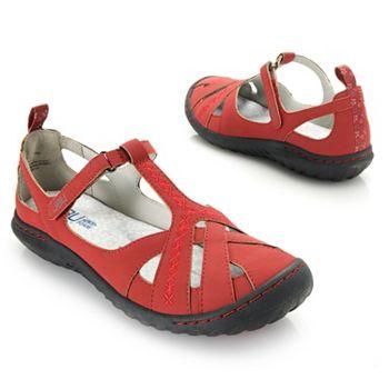 JBU by Jambu Cynthia Floral Detailed Memory Foam T-Strap Sandals - 741-237