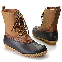 "J-Sport by Jambu ""Bergen"" Men's Faux Fur Lined Lace-up Duck Boots"