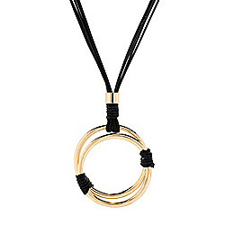 Necklaces 741-311 Marc Bouwer Gold-tone 33 Hoop Necklace w 3 Extender - 741-311