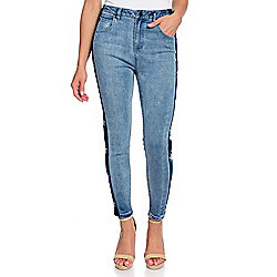 7c7fee6715 mōd x Denim 5-Pocket Star Printed Cropped Skinny Jeans