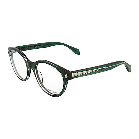 8c04c2adb1b 741-323- Alexander McQueen 49mm Round Frame Eyeglasses w  Case