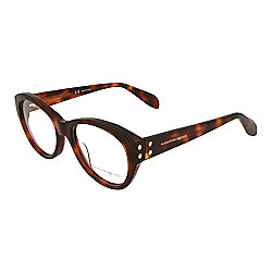 cfe341aa354 Image of product 741-327. QUICKVIEW. Alexander McQueen 50mm Round Frame  Eyeglass w  Case. HAVANA