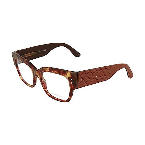 7418e39048 741-336- Bottega Veneta 51mm Havana Square Frame Optical Eyeglasses w  Case
