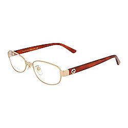 63f42a7d78 Gucci 54mm Gold-tone Round Frame Eyeglasses w  Case
