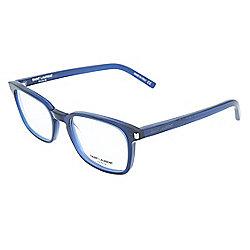 abb36c63ea Saint Laurent 51mm Blue Rectangular Frame Eyeglasses w  Case