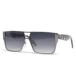 1c4076f9af47 Marc Jacobs 60mm Gunmetal Rectangular Frame Sunglasses w  Case