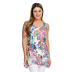 a9908bdccdf Kate & Mallory® Mixed Media Scoop Neck Partially Lined Sharkbite Tank Top