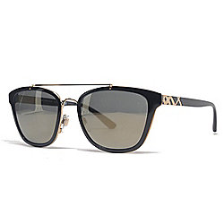 Burberry Unisex 56mm Black Aviator Sunglasses w/ Case