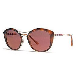 01a072c4e91 Burberry 53mm Havana Aviator Frame Sunglasses w  Case