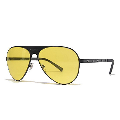 0dd7b157a02 741-675- Versace 59mm Men s Black Aviator Frame Sunglasses w  Case