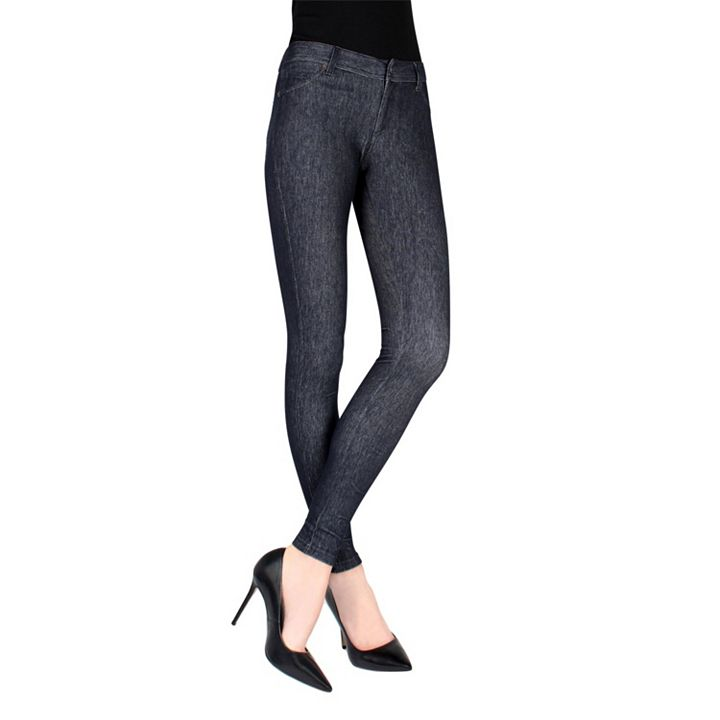 Daily Digital Deal at ShopHQ - 741-800 MeMoi Stretch Knit Zippered Pull-on Jeggings