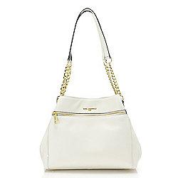 Handbags - 741-865 Karl Lagerfeld Paris Bouquet Leather Chain Detailed Hobo Handbag - 741-865