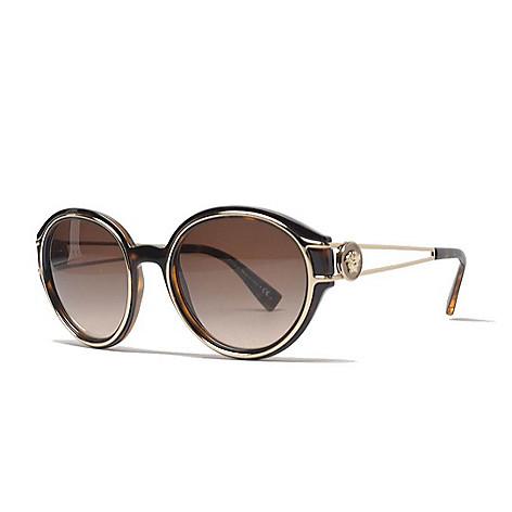 2788bf175e2 741-991- Versace 53mm Round Frame Sunglasses w  Case