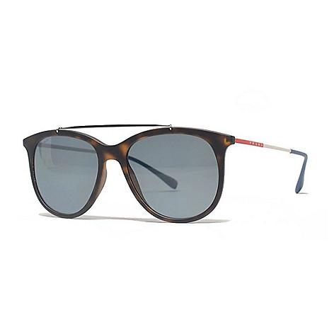 1774651488 741-996- Prada 54mm Havana Polarized Aviator Frame Sunglasses w  Case