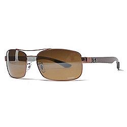 ec40bd4325 Ray-Ban Men s 64mm Brown Polarized Sunglasses w  Case