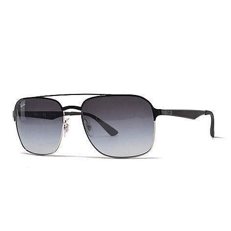 11ced616ff 741-998- Ray-Ban Men's 53mm Black Aviator Sunglasses w/ Case